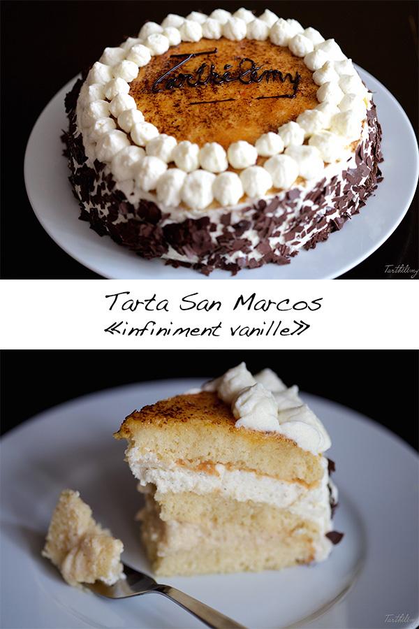 "Tarta San Marcos ""infiniment vanille"" (paso a paso + fichatécnica)"