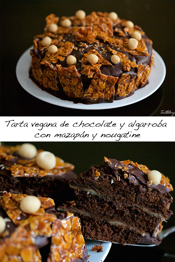 Tarta vegana de chocolate