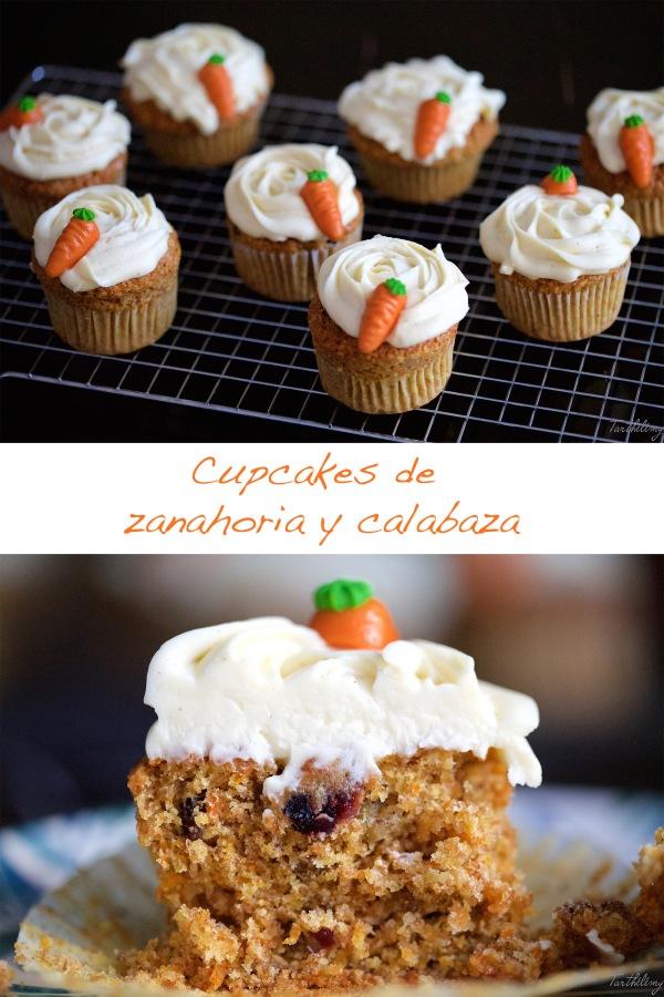 Cupcakes de zanahoria ycalabaza