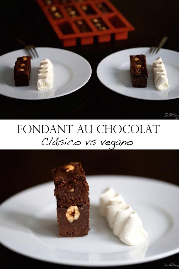 Fondant au chocolat, clásico vsvegano