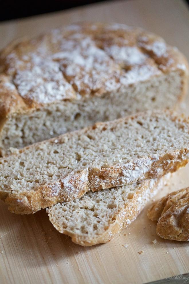 Pan sin amasar en cazuela