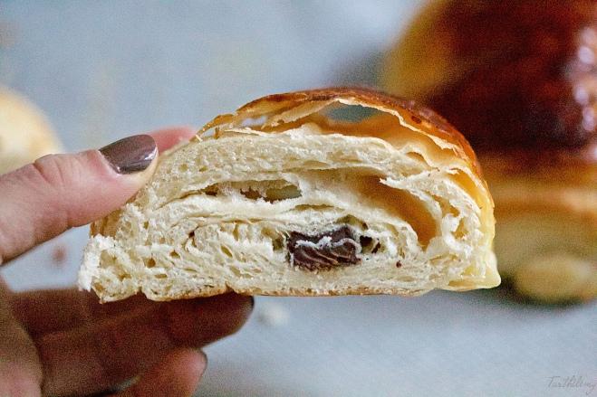 Croissants y pains au chocolat caseros