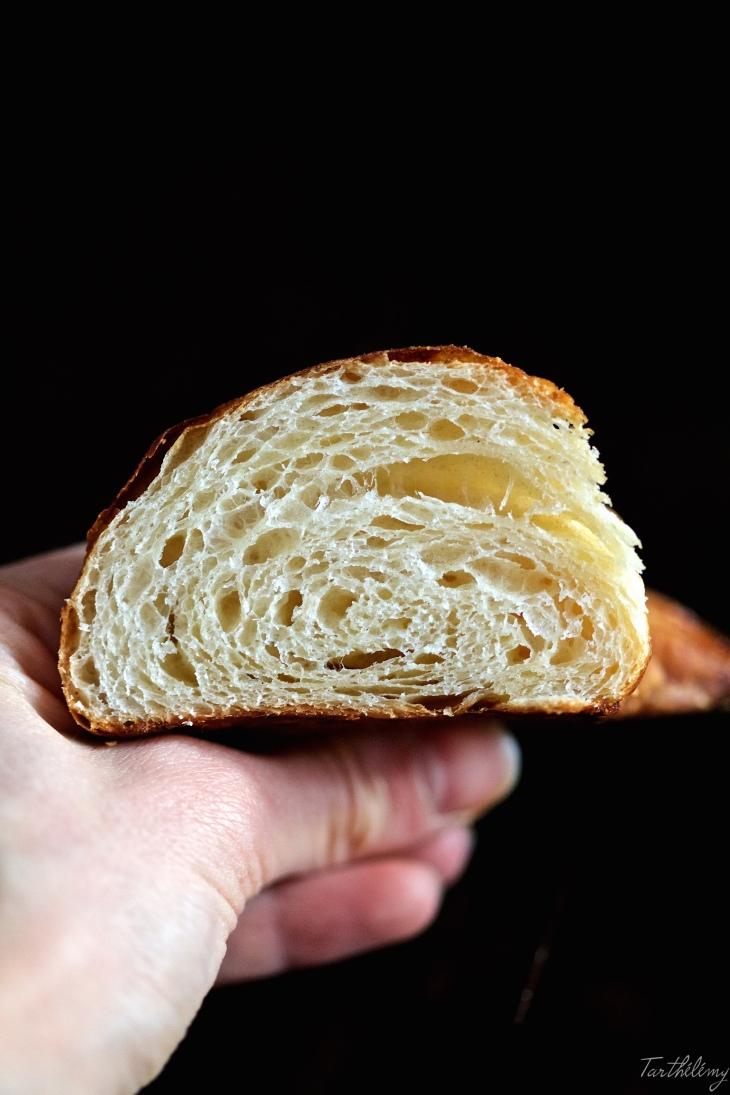 Croissants con masa madre