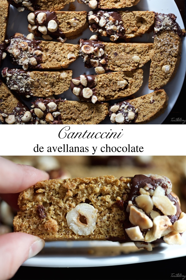 Cantuccini de avellanas y chocolate