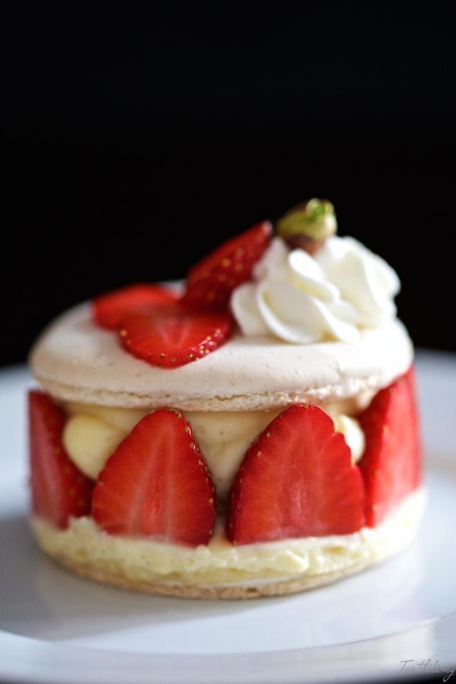 Macaron fraisier