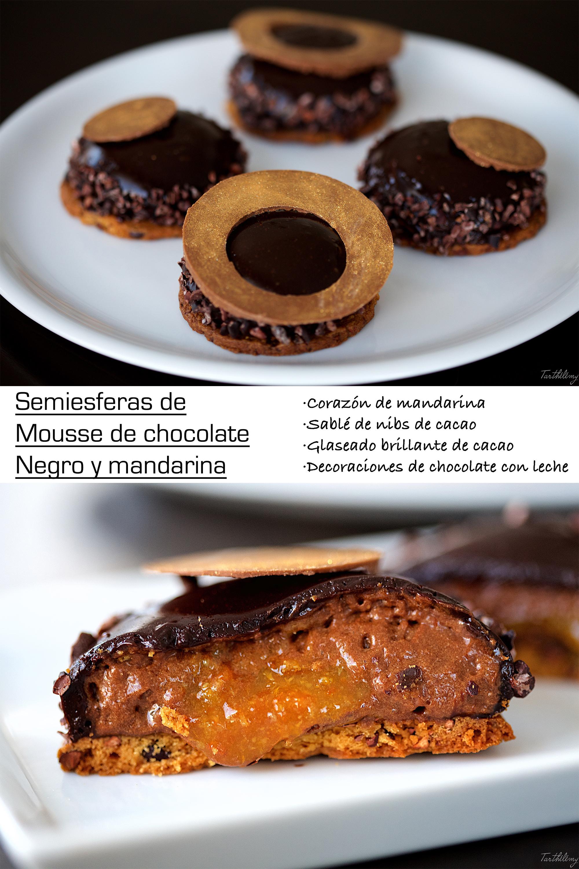 Mousse de chocolate y mandarina