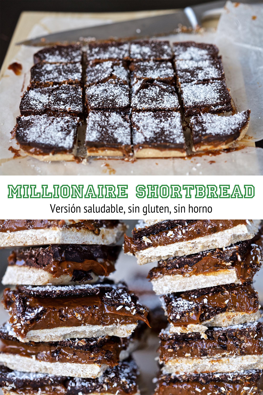 Millionaire Shortbread sin gluten (sin horno)