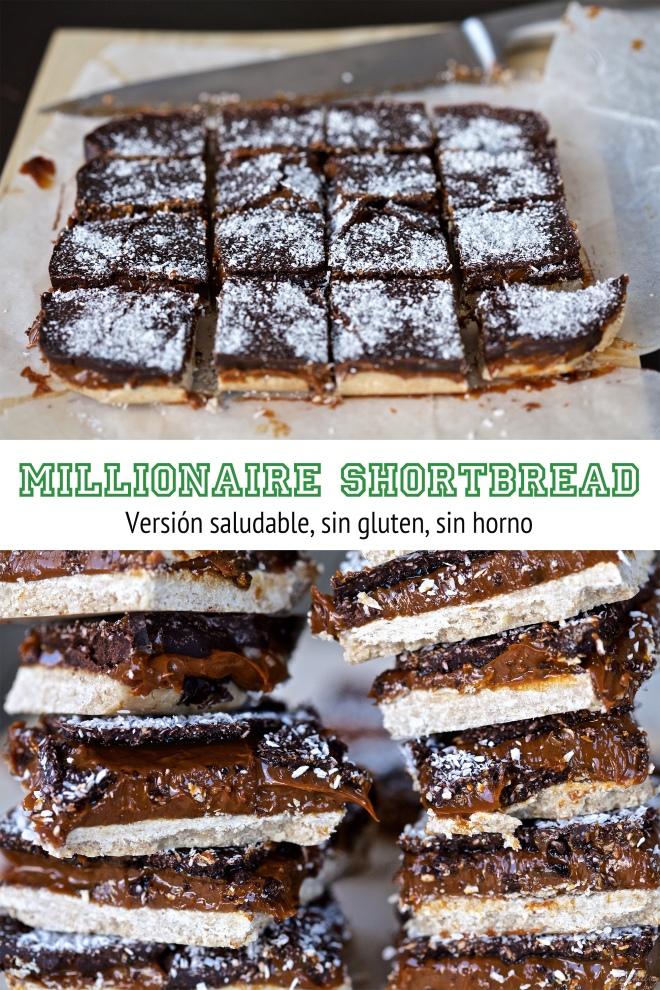 millionnaire shortbread saludable, sin gluten
