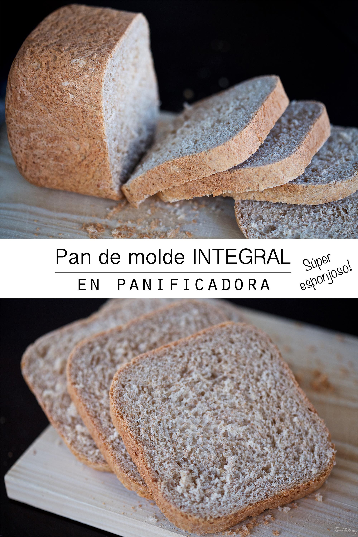 Pan de molde integral súper esponjoso (en panificadora)