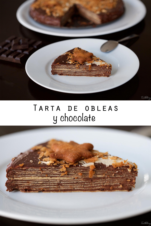Tarta de obleas y chocolate (paso a paso)