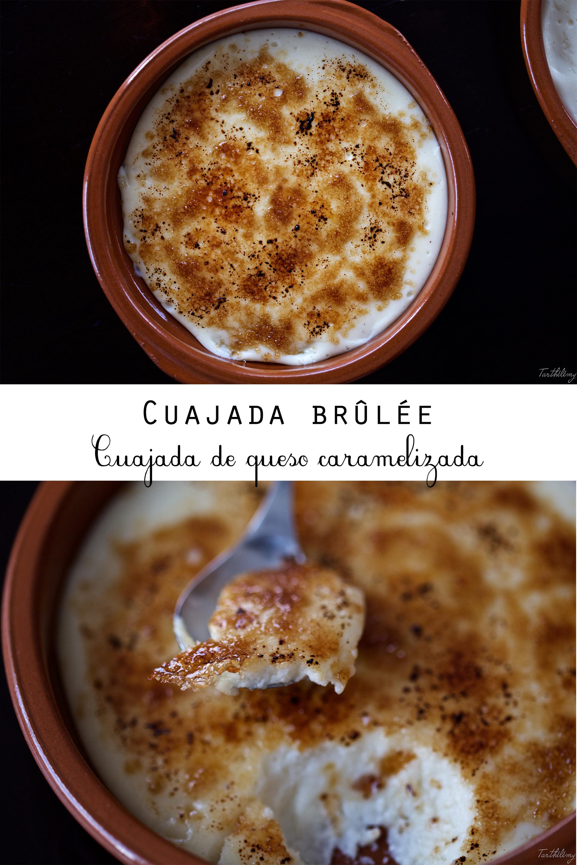 Cuajada de queso brûlée (sin horno, sin gluten)