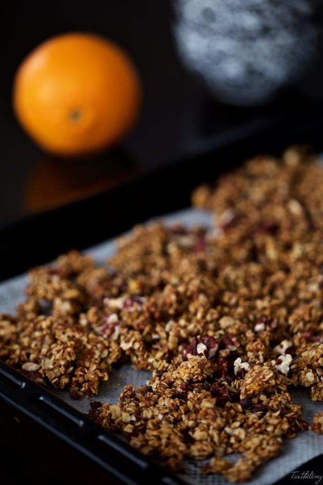 Granola de naranja