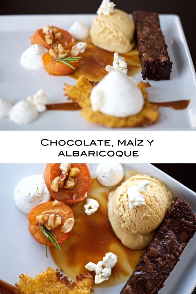 Chocolate, maíz y albaricoque
