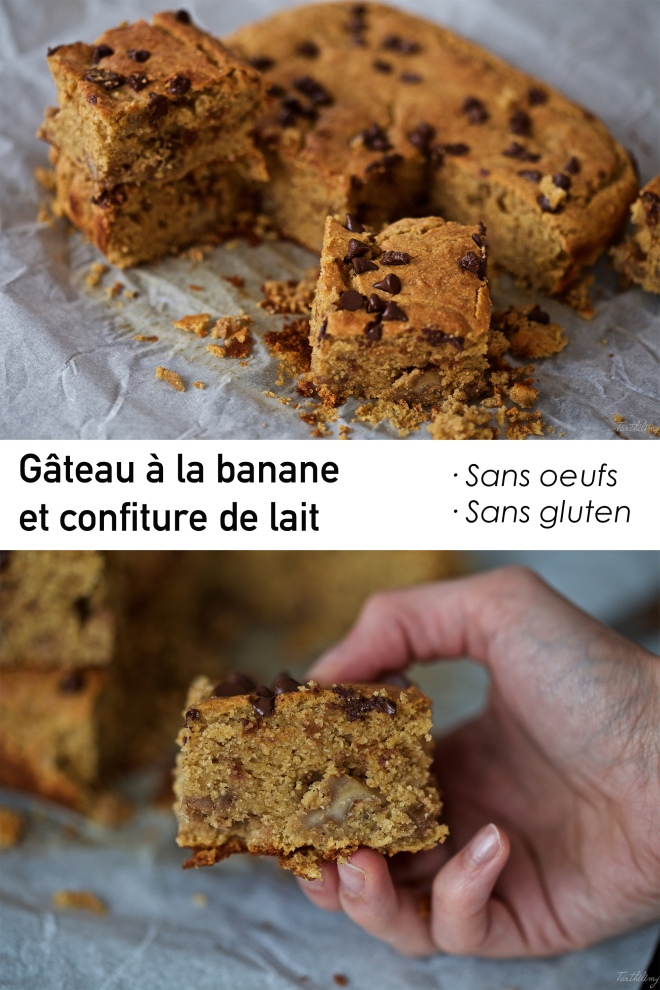 Gâteau à la banane et confiture de lait sans gluten