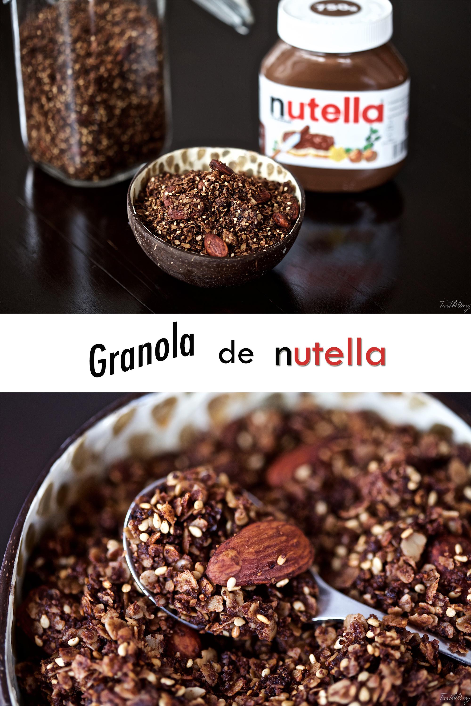 Granola de nutella y almendras (opción sin gluten)