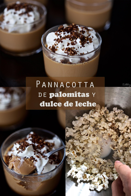 """""""Pannacotta"""" de palomitas y dulce de leche (sin gluten)"""