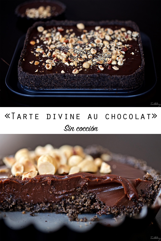 Tarte au chocolat sin cocción (paso a paso, opción sin huevo)