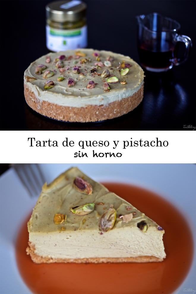 Tarta de queso y pistacho