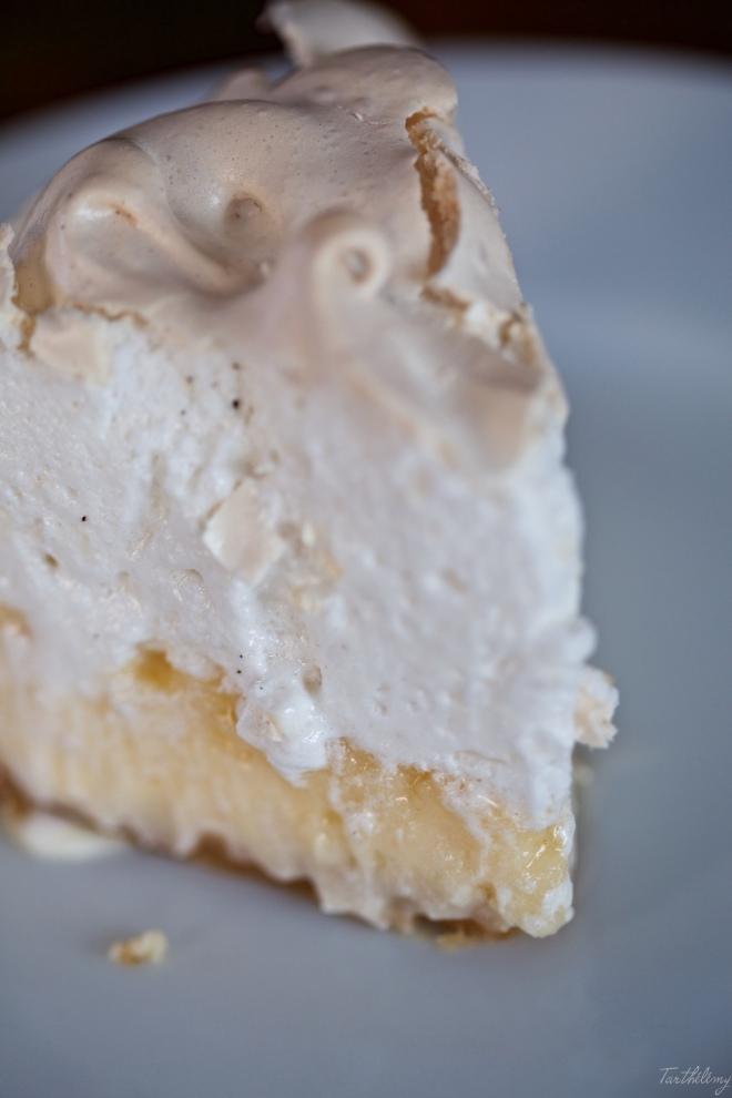 Tarta de queso, limón y merengue