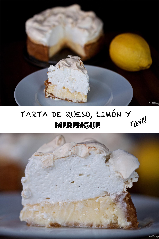 Tarta de queso y limón con merengue fácil (paso a paso en vídeo)