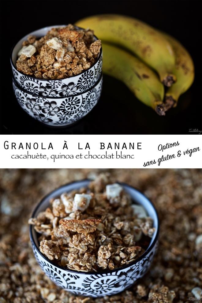 Granola banane cacahuète et quinoa