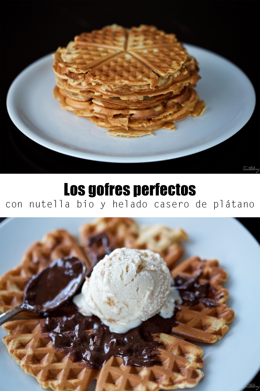 Gofres perfectos con nutella bio y helado de plátano (paso a paso)
