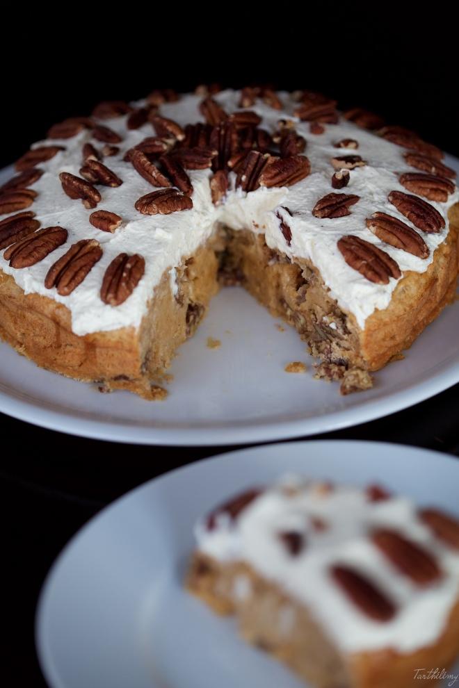 Tarta de Baileys, castañas, pecanas y mascarpone sin gluten