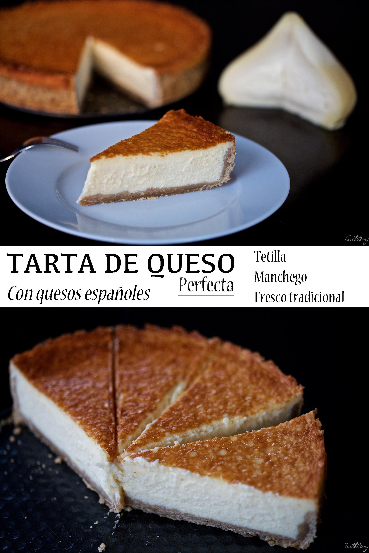 Tarta de quesos españoles (tetilla, manchego y fresco), la receta perfecta