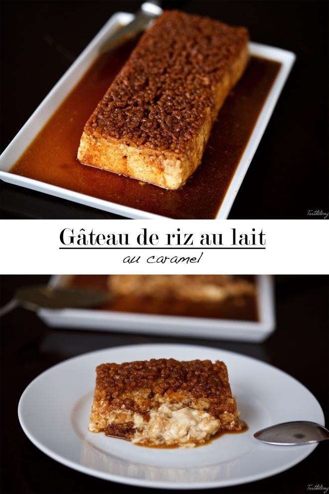 Gâteau de riz au lait au caramel