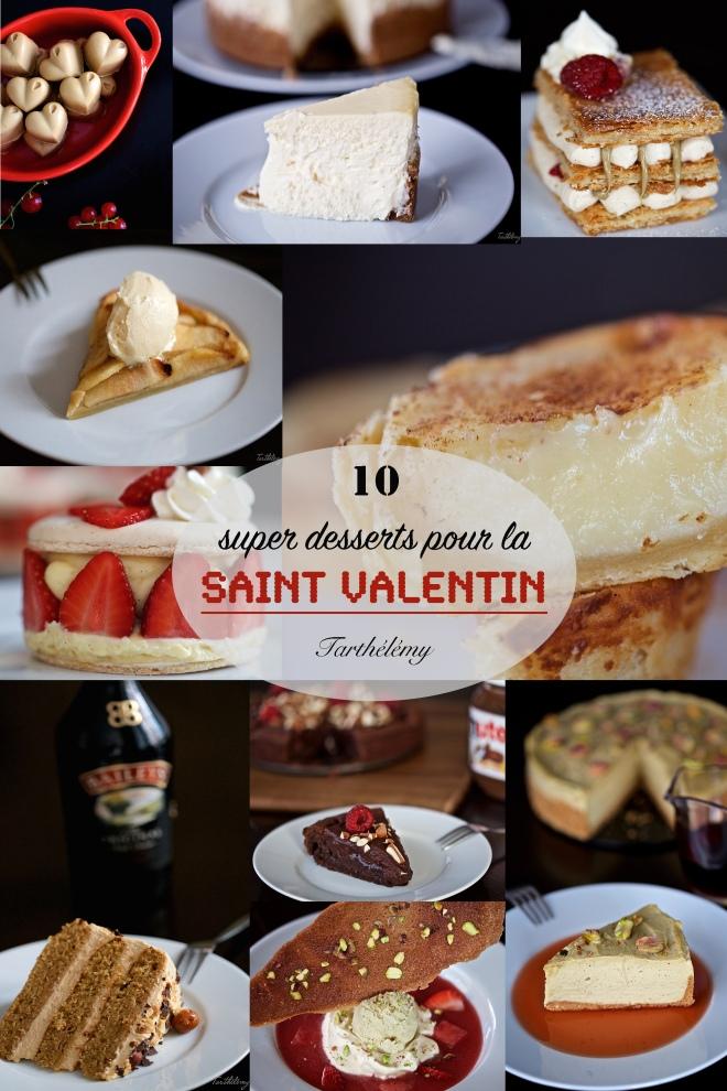 10 super desserts pour la Saint Valentin