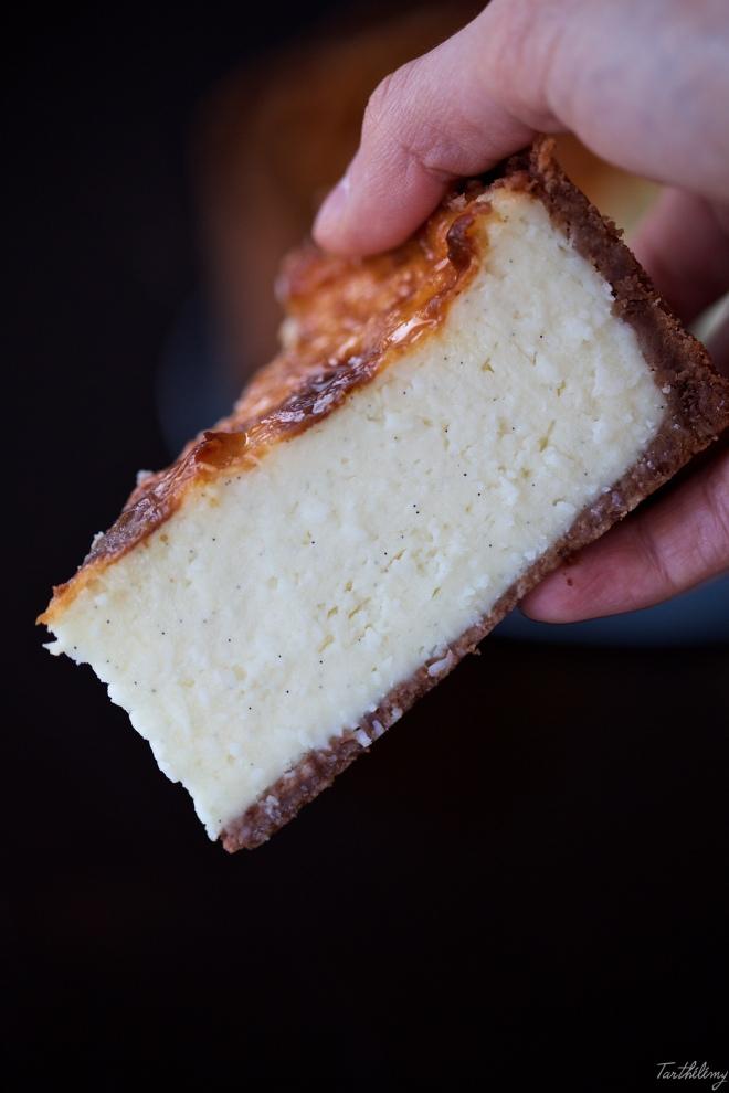 Flan parisino de vainilla, chocolate blanco y coco