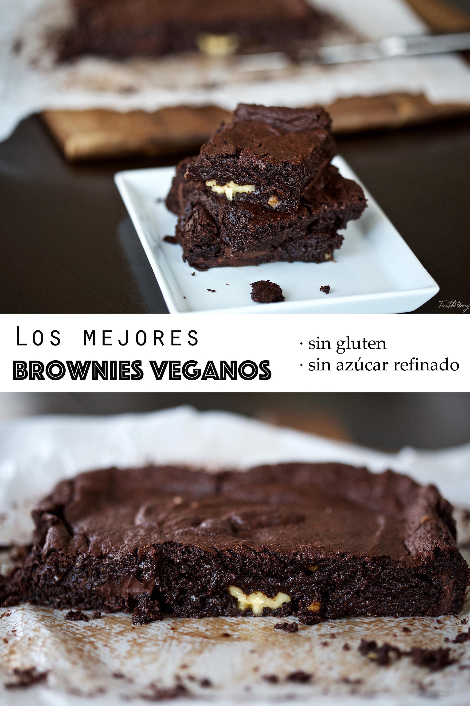 Los mejores brownies veganos (sin gluten ni azúcar refinado, paso a paso)