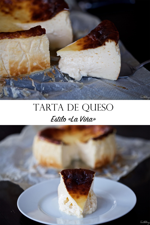 """Tarta de queso estilo """"La Viña"""" (paso a paso)"""