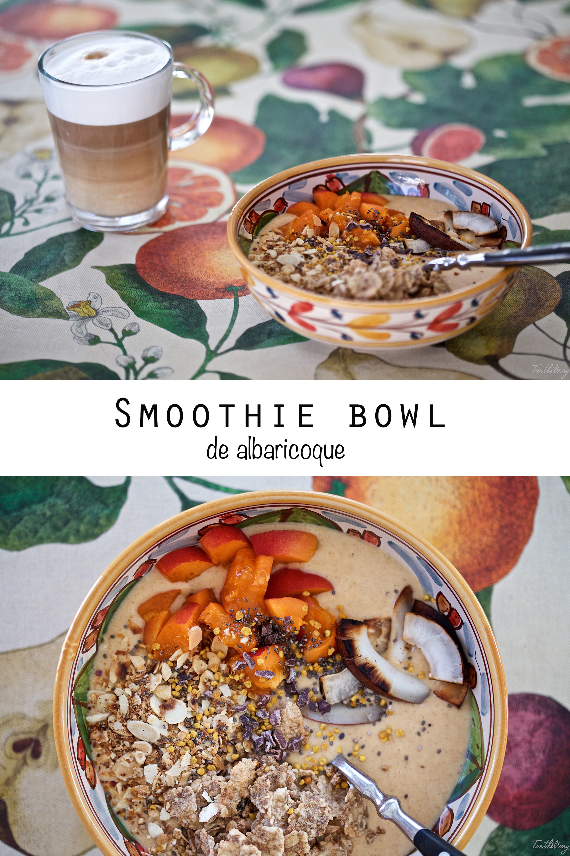 Smoothie bowl de albaricoque (opción vegana y sin gluten)