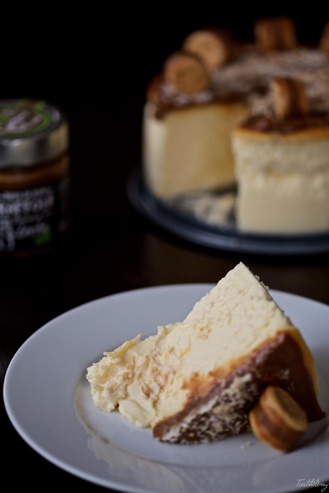 Tarta de queso de Aliter Dulcia con coco y dulce de leche