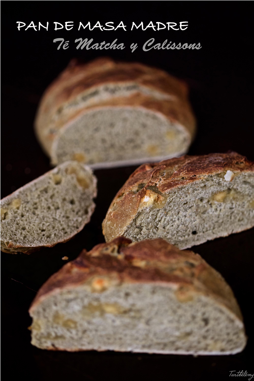 Pan de masa madre con té Matcha y Calissons (paso a paso)